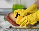Ручная мойка посуды, очистка плит